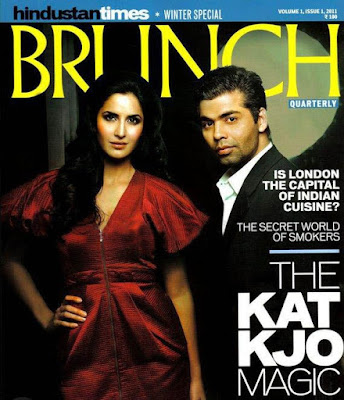 Katrina & Karan on Brunch Magazine Scans Pics