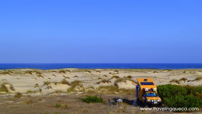 Playa de San Jacinto zona centro de Portugal
