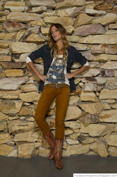 Vov Jeans Moda otoño invierno 2012. Camisa de jeans moda 2012.