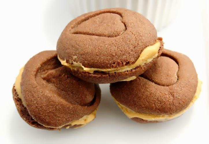... Sausainiai su Sviestiniu Kavos Kremu/ Chocolate Mocha Sandwich Cookies