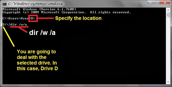 how to detect malware using cmd