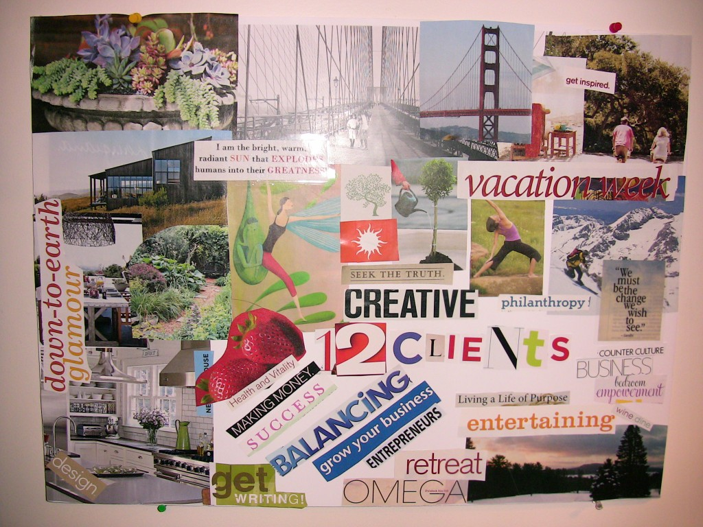life lessons creating a vision board