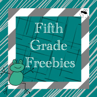 Fifth Grade Freebies