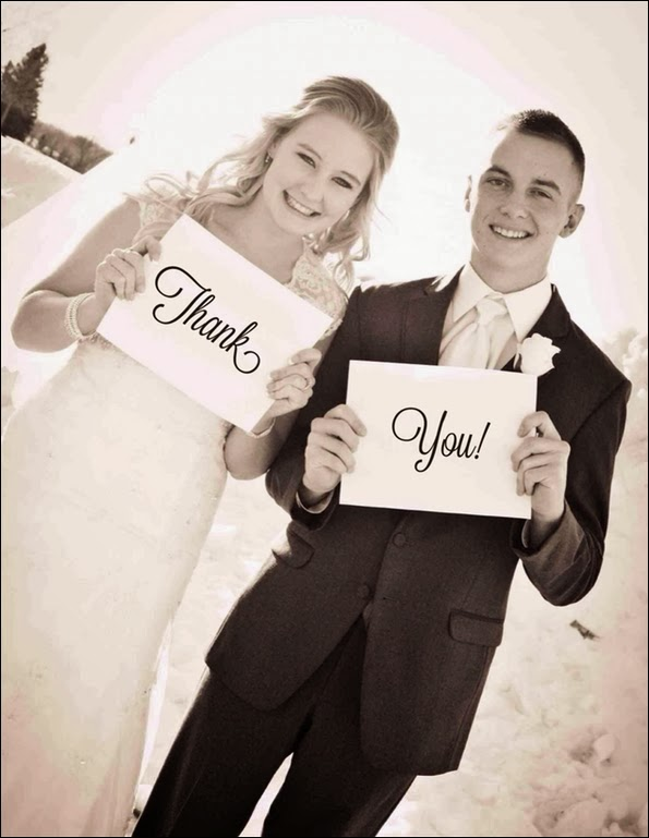 Inexpensive Wedding Thank you notes