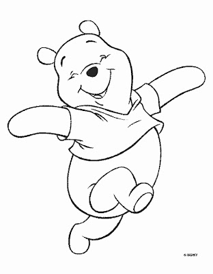 Winnie The Pooh Bear Disney Coloring Pages Kids