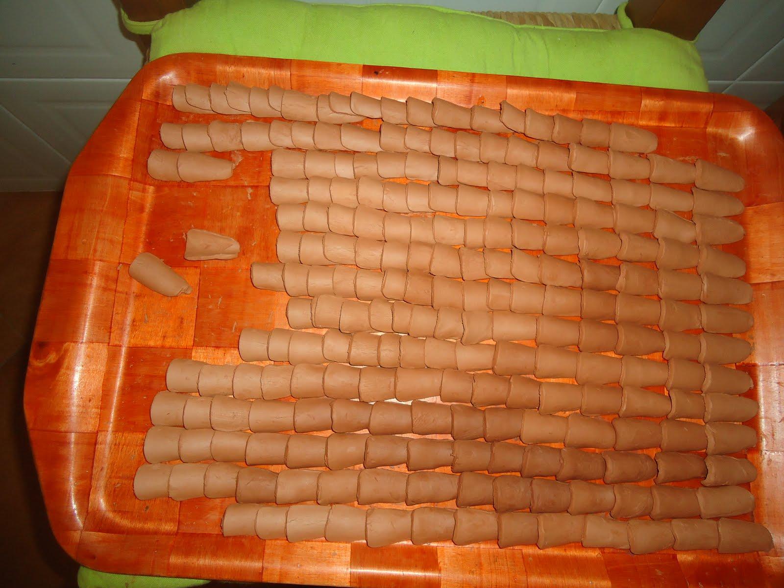 Casas de mu ecas tejas Pintar tejas de barro