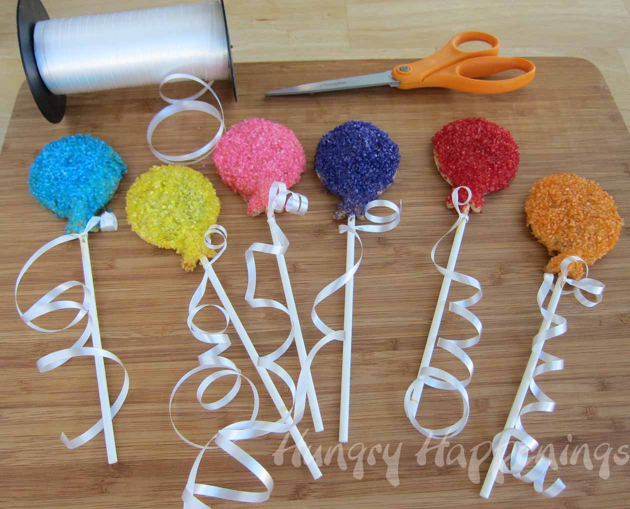 Birthday party balloon pastry pops hungry happenings for Decoration sticks