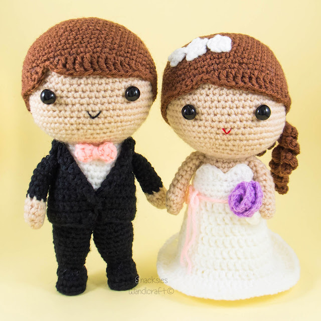 Amigurumi Free Pattern Couple : Bride and Groom Amigurumi Crochet ~ Snacksies Handicraft ...