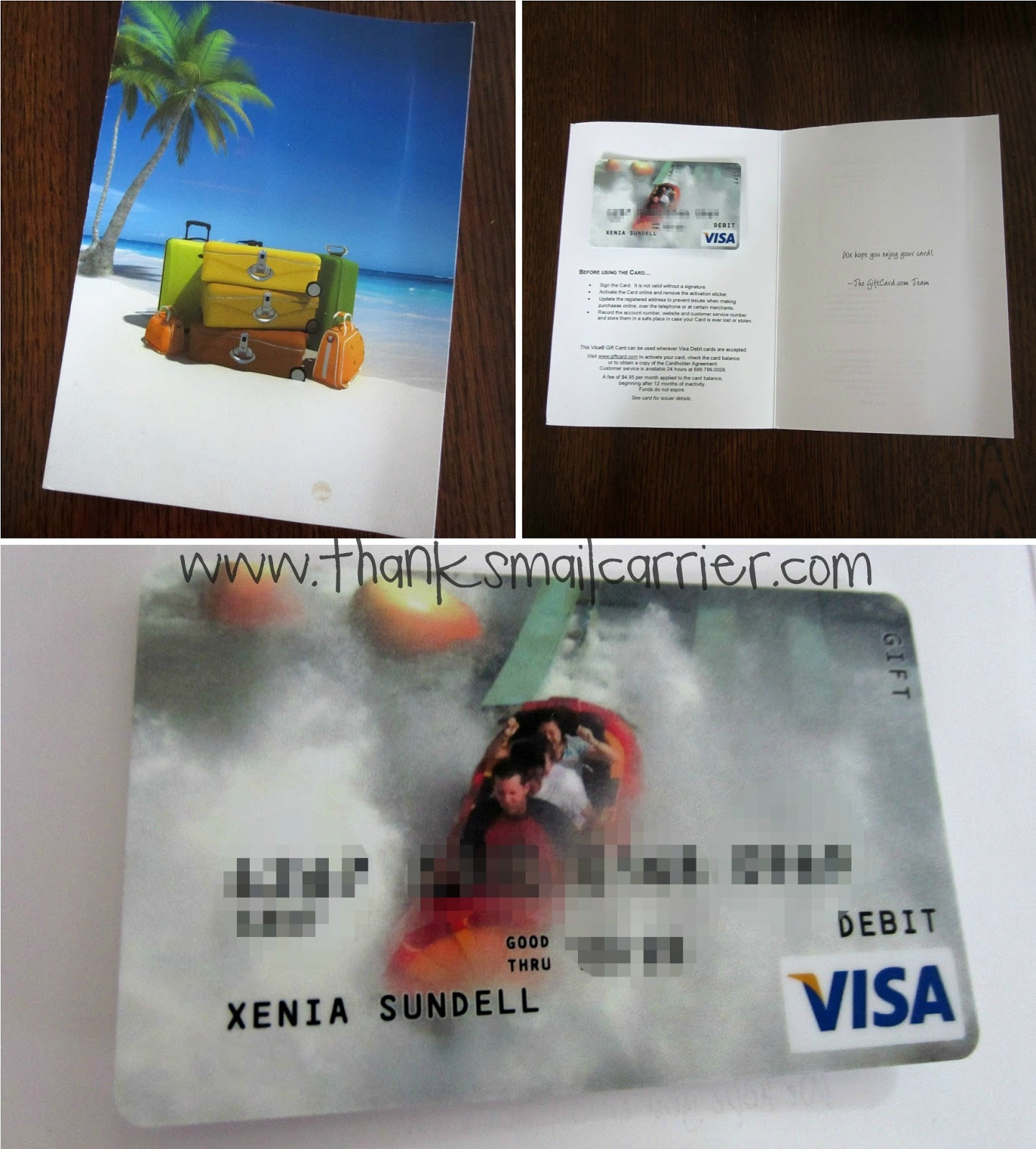 personalized gift card