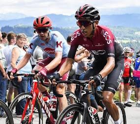 Egan Bernal marcha a 34 segundos del líder de la Vuelta a Suiza