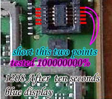 Nokia 1208 Display Problem
