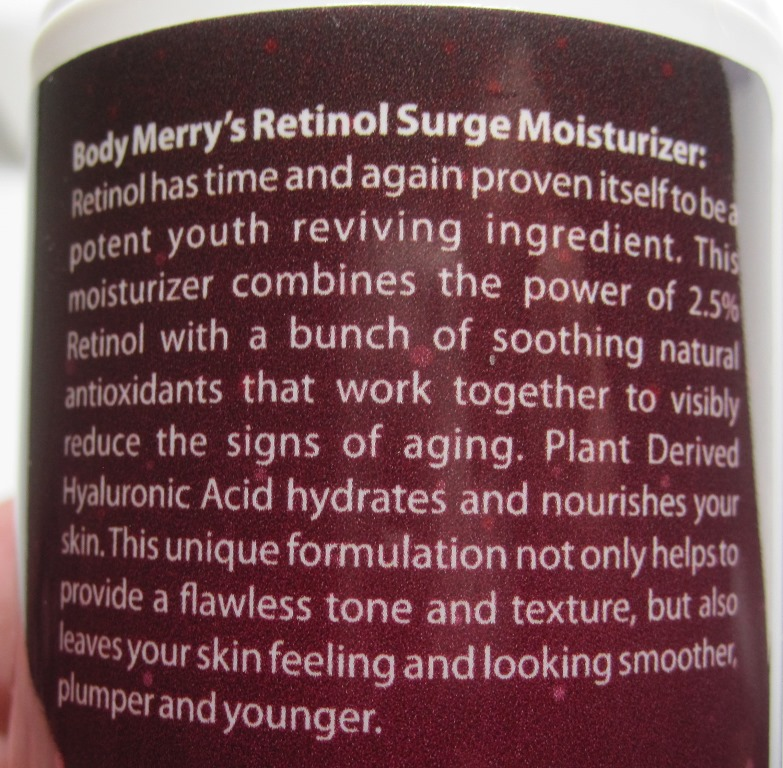 Body Merry Retinol Surge Moisturizer directions