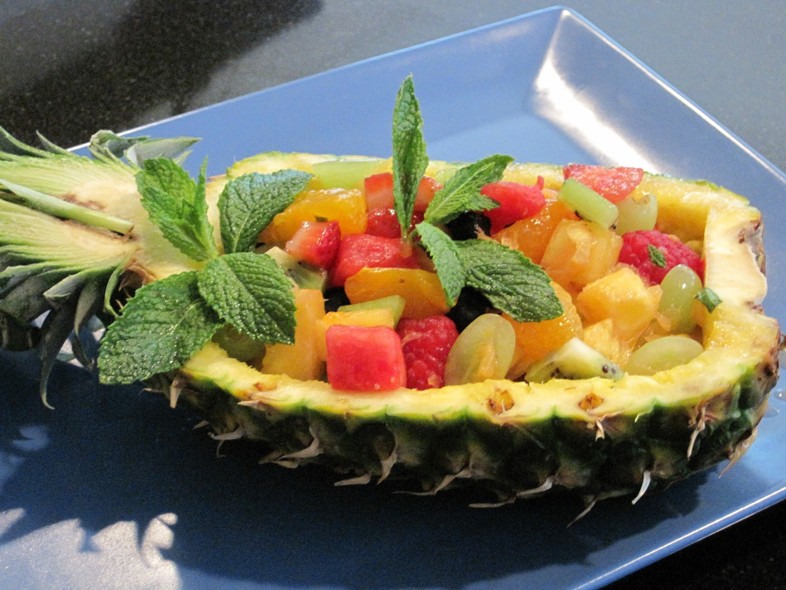 pineapple boat fruit salad 1 large pineapple carefully cut in