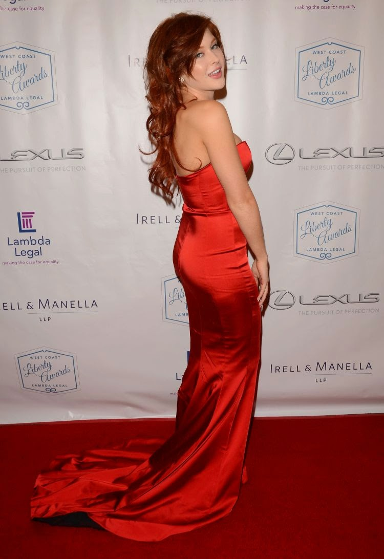 Renee Olstead Hot in Red at Lambda Legal's West Coast Liberty Awards Gala