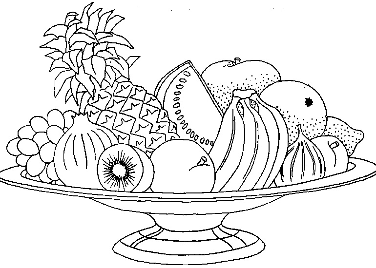 Láminas para Colorear - Coloring Pages: Frutas para dibujar pintar ...