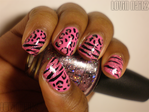 Cheetah print and tiger stripes over opi teenage dream and short story lovin nailz prinsesfo Image collections