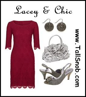 lacey tall party dress