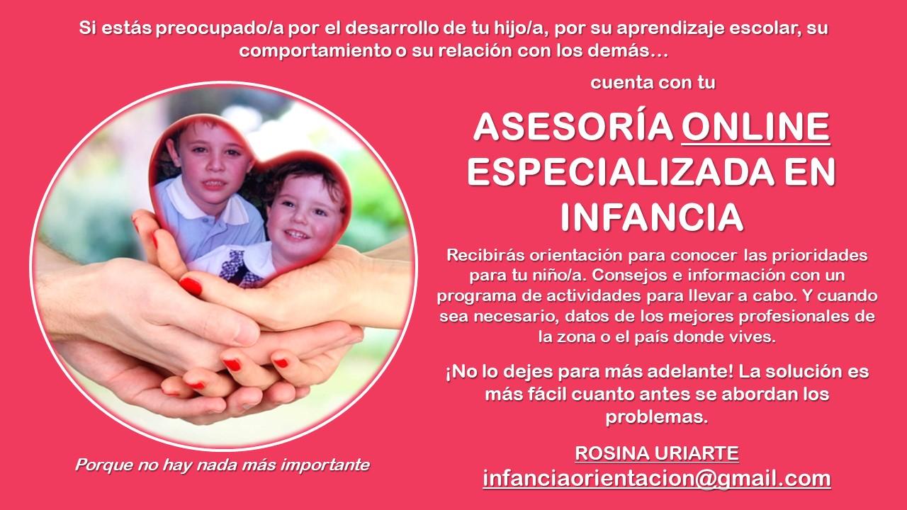 ASESORÍA ONLINE ESPECIALIZADA EN INFANCIA