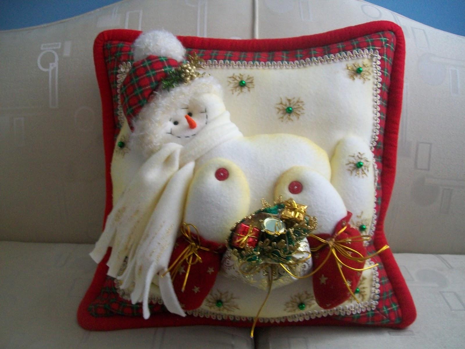 Creaciones matilde hermosos cojines nieve - Decorar cojines con fieltro ...