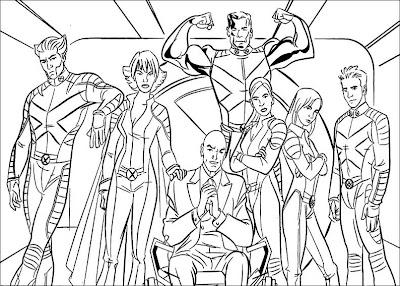 Desenhos Para Colorir Super heroi Magneto