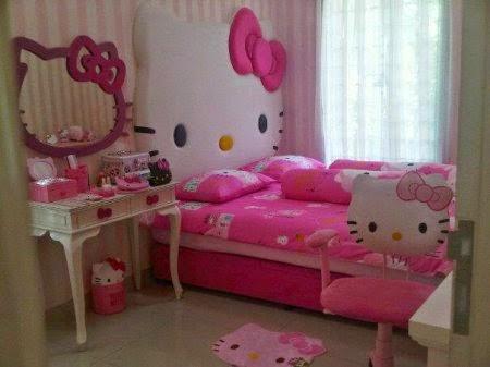 desain kamar tidur hello kitty