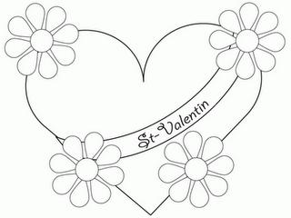 Dibujos de San Valentin para Colorear, parte 1