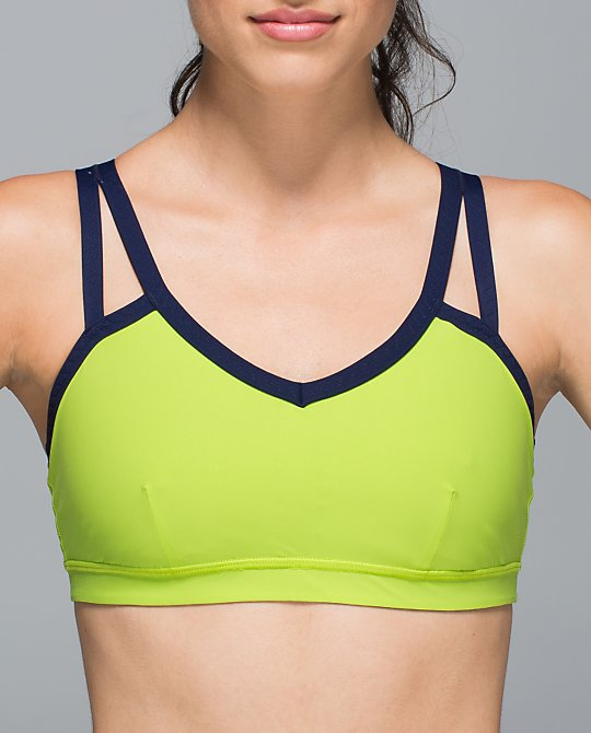lululemon brisk lime water bound bra