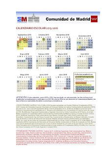 Calendario Escolar 2015-16