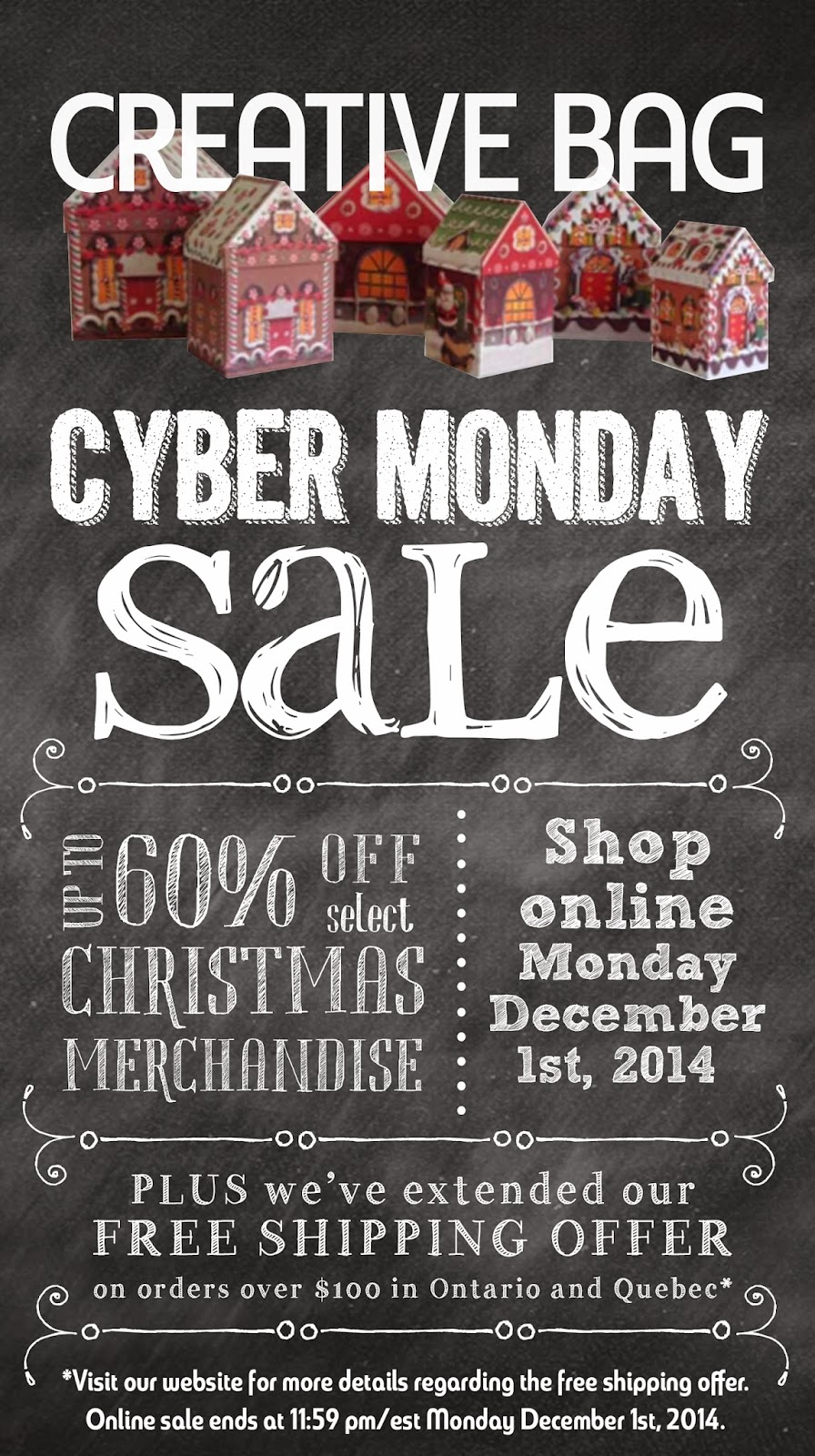 Cyber Monday 2014 at Creative Bag