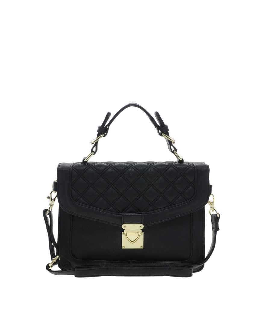 10 Best Top-Handle Bags For Summer 2013: ASOS Top Handle Bag With Quilted Flap