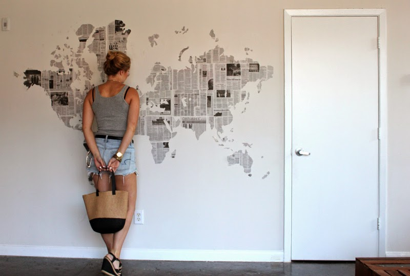 DIY: Newspaper Map Wall art - Taylor Allan Photography