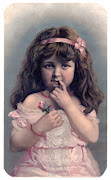 Antique ImageLittle Girl with Exceptionally Pretty Face (beautygirl graphicsfairy)