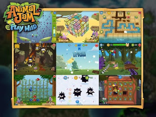 Screenshots of the Animal jam: Play Wild for Android tablet, phone.