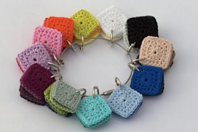 free crochet pattern small square color wheel