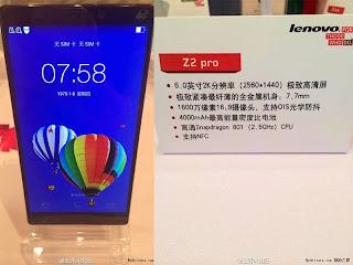 Spesifikasi dan Harga Lenovo Vibe Z2 Pro 4G LTE