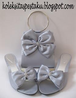 Tas Pesta Silver Elegant
