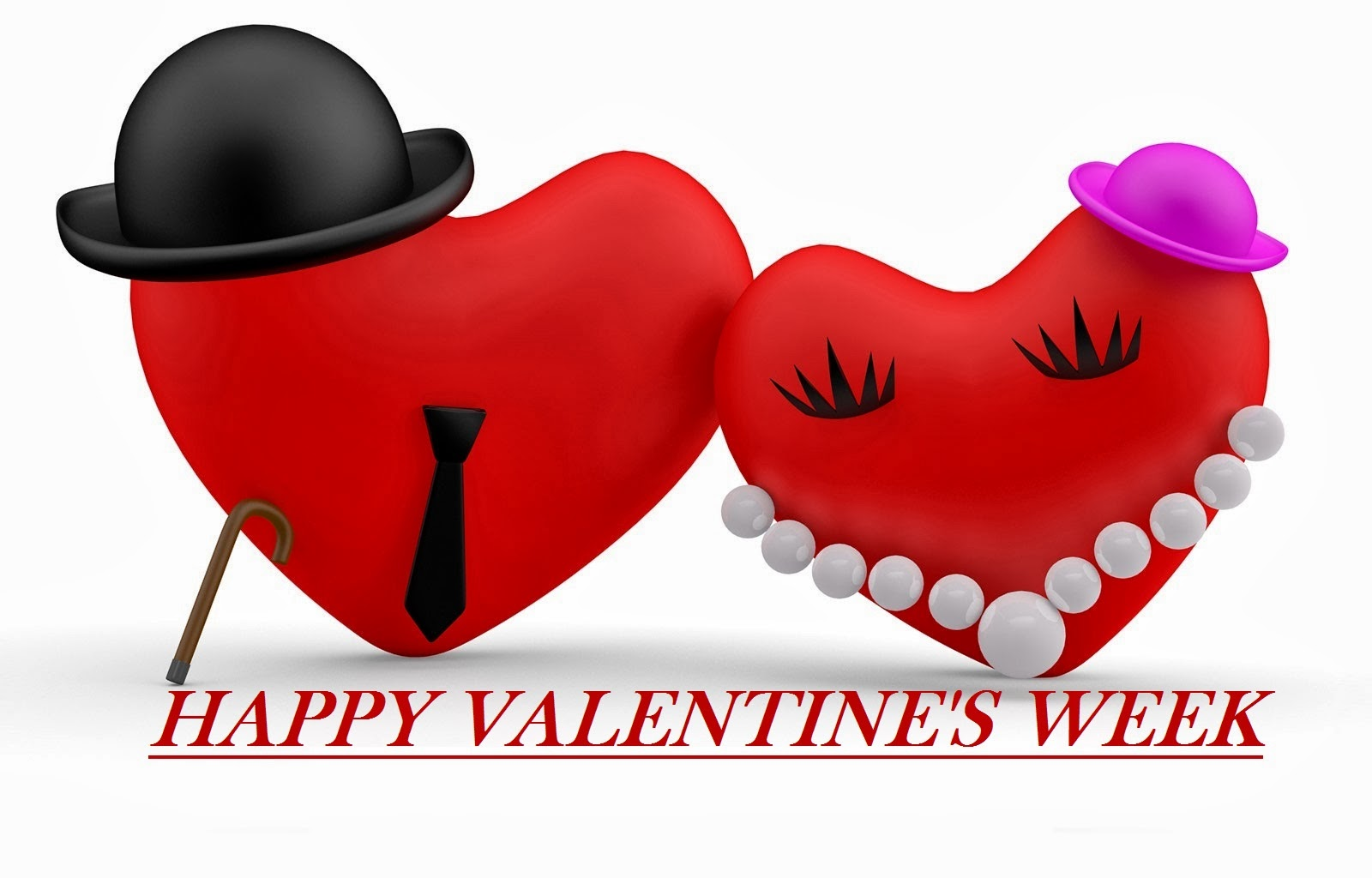 Happy Valentineu0027s Week 2014 HD Wallpapers And Images Two Love Hearts