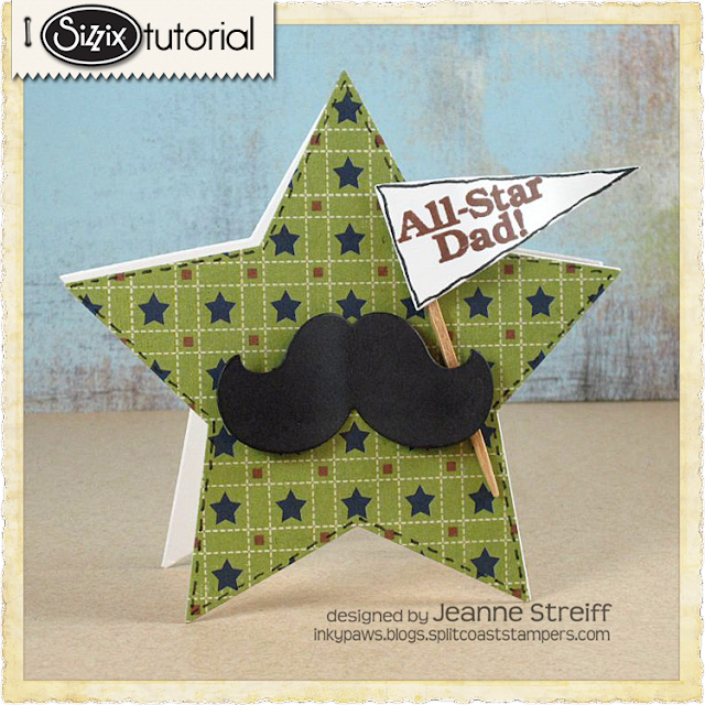 Sizzix Die Cutting Tutorial: All-Star Dad Card by Jeanne Streiff