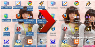 Cara Membuat Icon Desktop Transparan Windows Xp