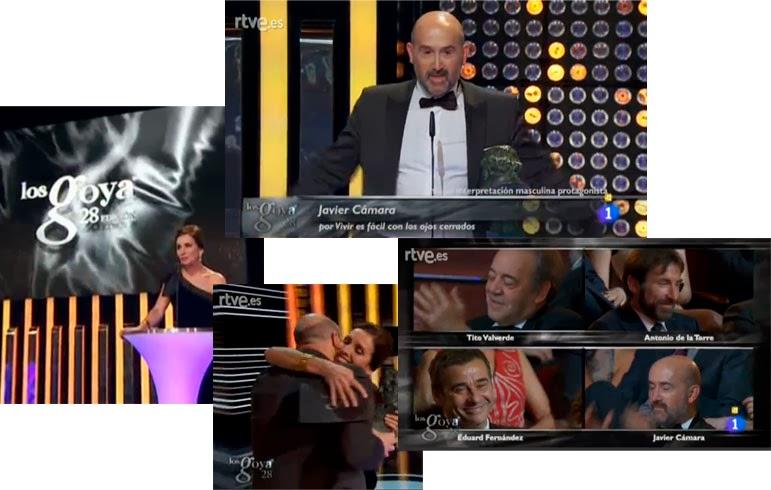 Javier cámara, mejor actor protagonista por Vivir es fácil con los ojos cerrados