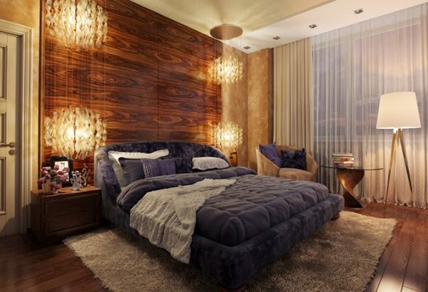 Conception chambre avec panneaux en bois for Chambre luxueuse