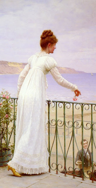 Edmund Blair Leighton,genre painting,love