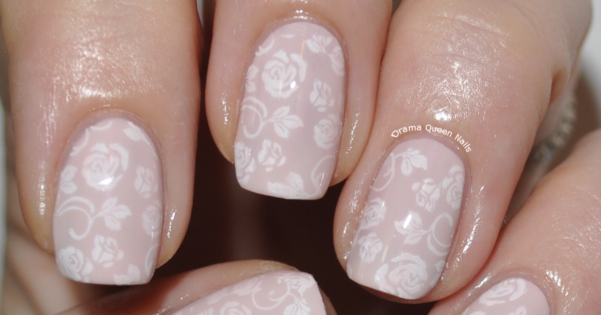 Bridal Nails - A twist on the traditional French manicure