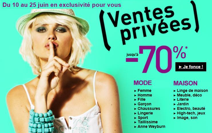 Le blog malin la redoute ventes priv es pr soldes du 10 au 25 juin 2012 - La redoute vente flash ...