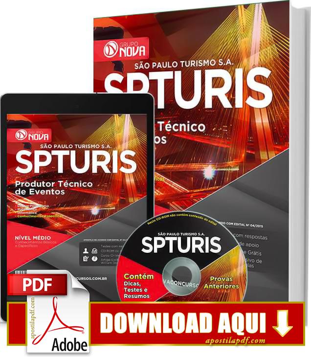 Apostila SPTuris 2015 Produtor Técnico de Eventos Impressa PDF Grátis Download
