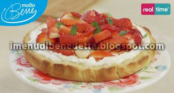 Crostata al Mascarpone e Fragole di Benedetta Parodi
