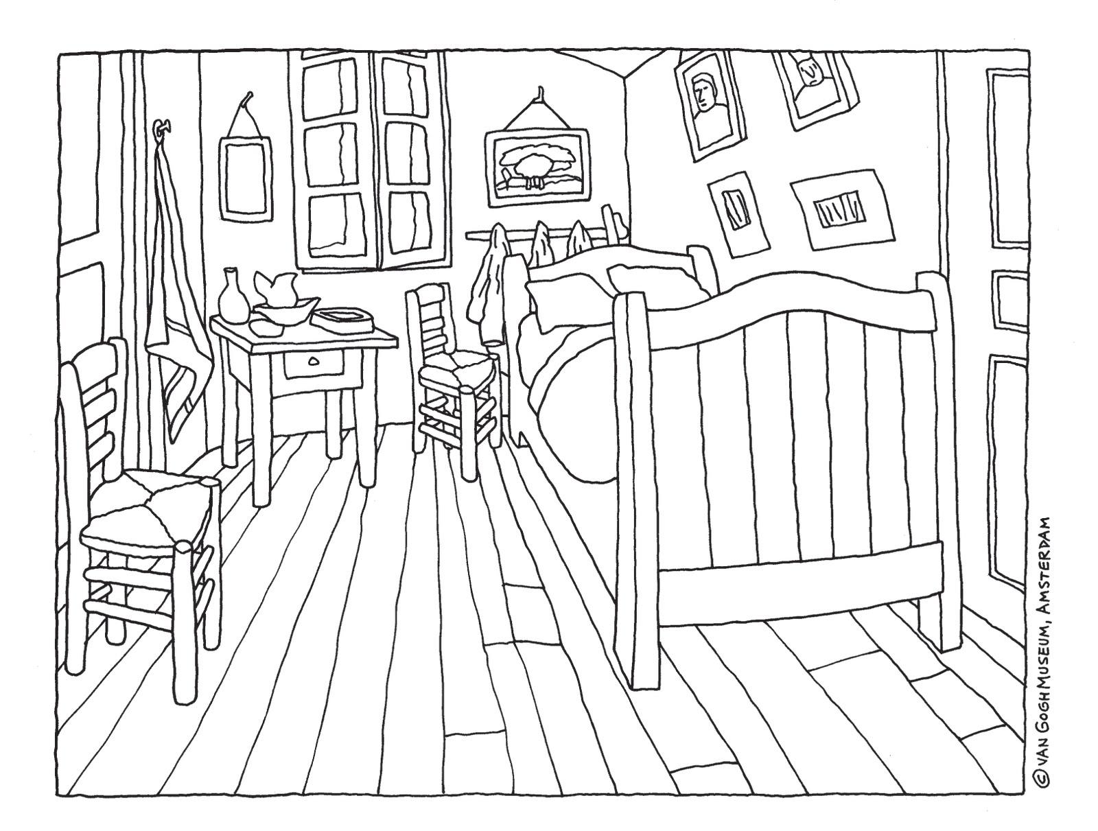 Pequeu00f1os Pinceles: La habitaciu00f3n de Van Gogh para pintar