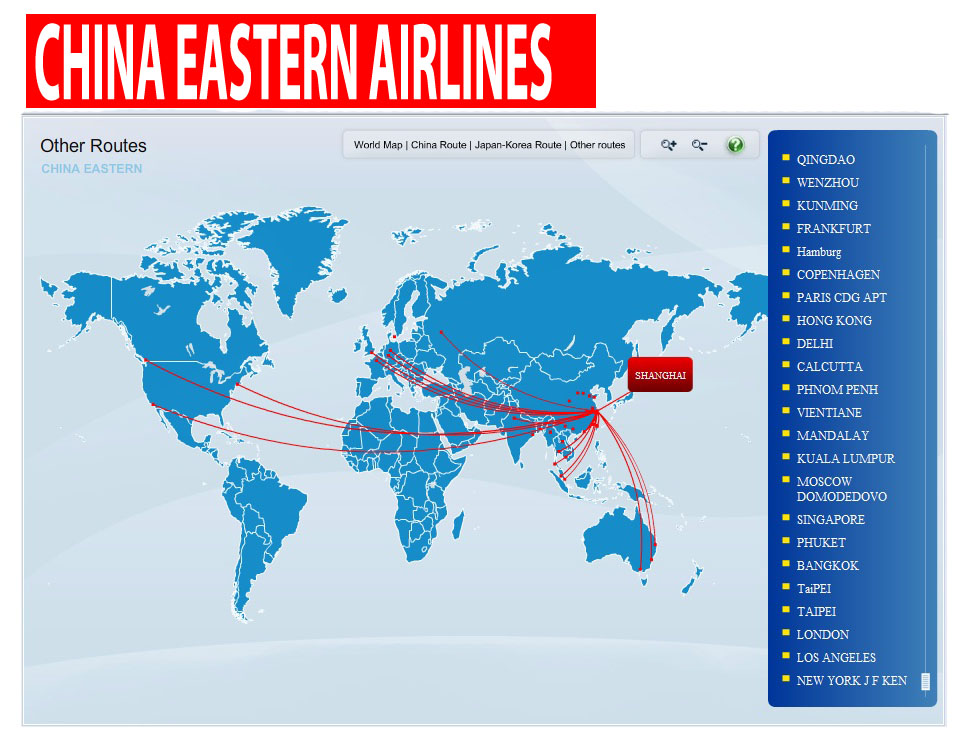China karte routen - China eastern airlines vietnam office ...