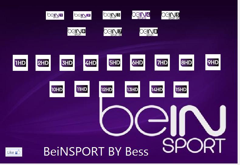 iptv beIN-Sports 1HD to 15HD