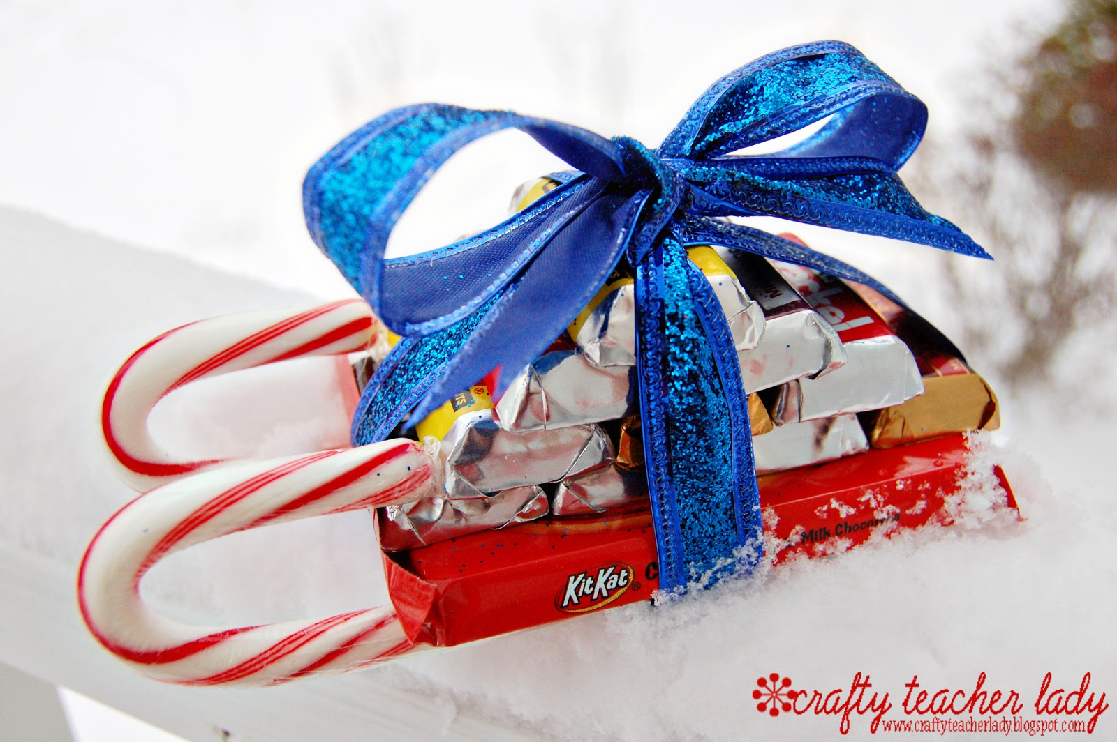 Crafty Teacher Lady: Candy Cane Sleigh Tutorial